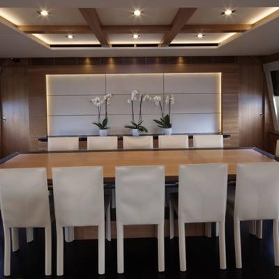 Arion Yacht Interior Dining