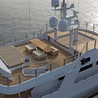 Sensei Yacht Aerial View