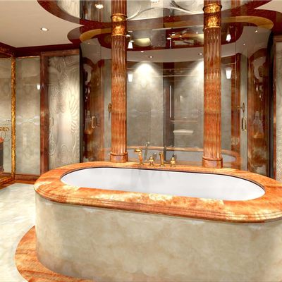 Diamonds Are Forever Yacht Master Bathroom - Front View