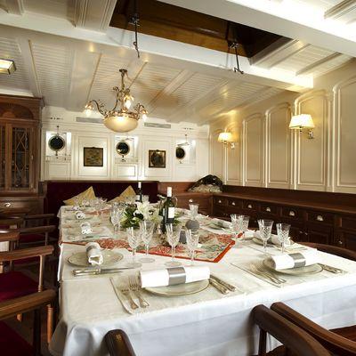 Atlantic Yacht Dining Area