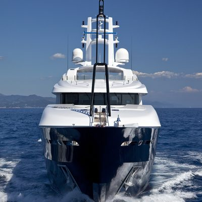Baraka Yacht Running Shot - Bow