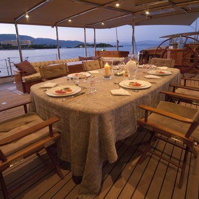 Athos Yacht Al Fresco Dining