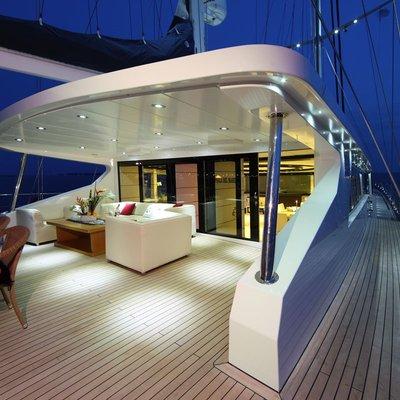 Perla del Mare Yacht Deck - Night