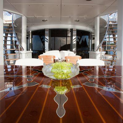 Sunrise Yacht Aft Deck Dining Table