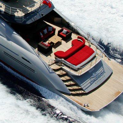 Dragon Yacht Overhead - Aft
