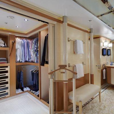 Pegasus VIII Yacht Walk In Wardrobe