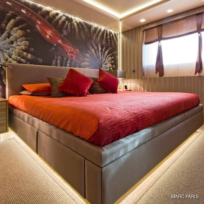 Liberty Yacht Red Guest Stateroom