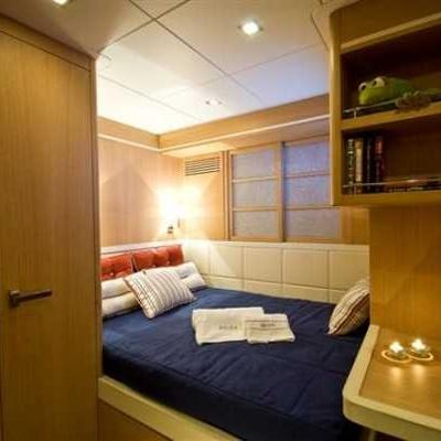 Zelda Yacht Blue Stateroom