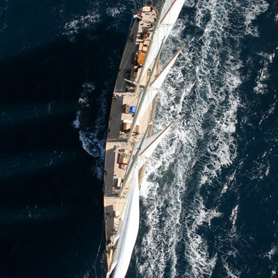 Atlantic Yacht Overhead View