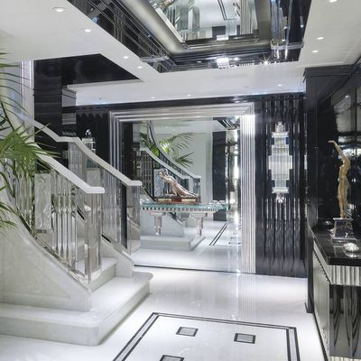 Silver Angel Yacht Staircase & Lobby