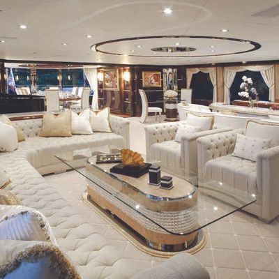 Diamonds Are Forever Yacht Upper Salon View