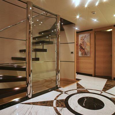 Tatiana Yacht Foyer & Staircase