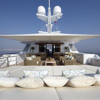 Lady Britt Yacht Sunpads and Surrounding Cushions