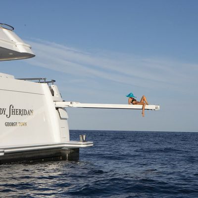 Lady Sheridan Yacht Stern - Diving Board