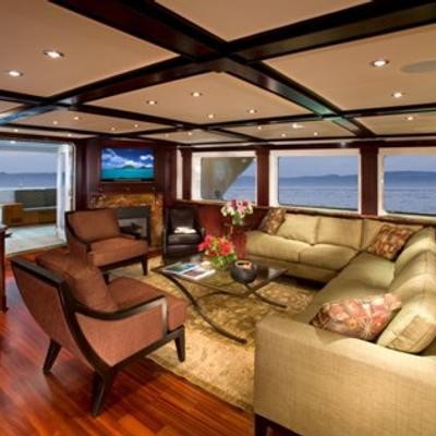 L'Albatros Yacht Main Salon from Starboard