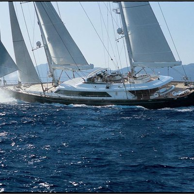 Parsifal III Yacht Exterior Running Shot