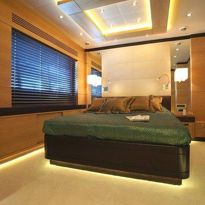 Tatiana Yacht Green Guest Stateroom