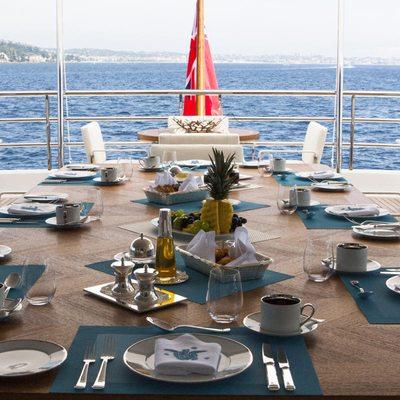 Revelry Yacht Upper Deck Dining