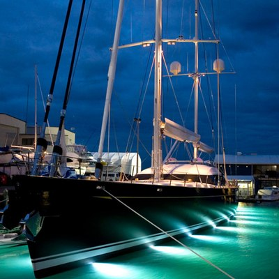 Q Yacht Under Water Lights