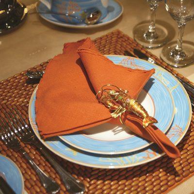 Bella Stella Yacht Dining Detail