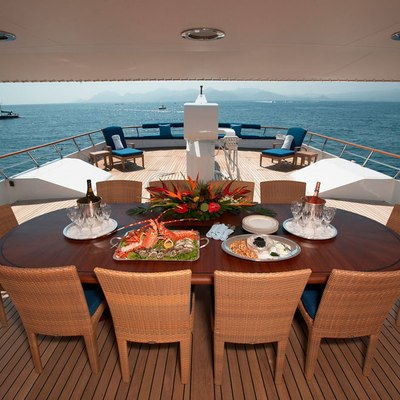 Shake N Bake TBD Yacht Exterior Dining