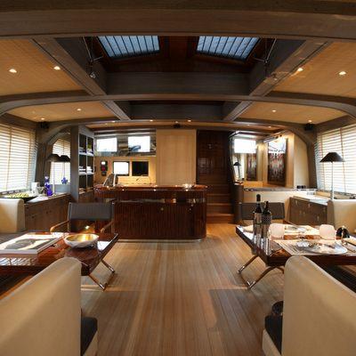 Roxane Yacht Main Salon & Stairs Up