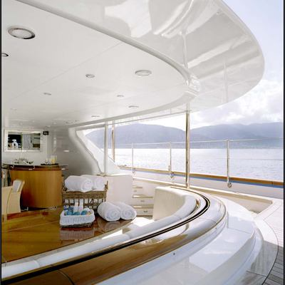 Parsifal III Yacht Covered Aft Deck