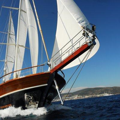 Carpe Diem IV Yacht Running Shot - Bow