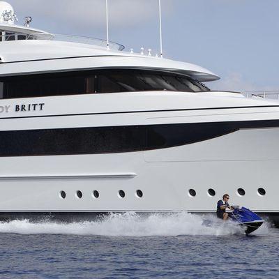 Lady Britt Yacht Profile View With Jetski