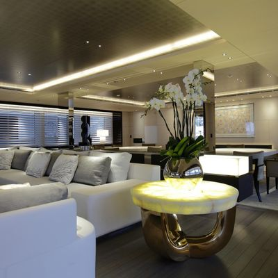 Nautilus Yacht The Main Salon And Adjacent Dining Area