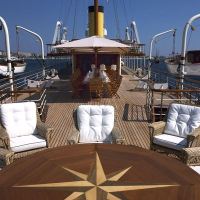 SS Delphine Yacht Sundeck