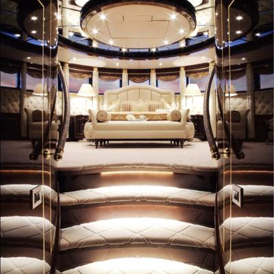 Diamonds Are Forever Yacht Stateroom - Stairs