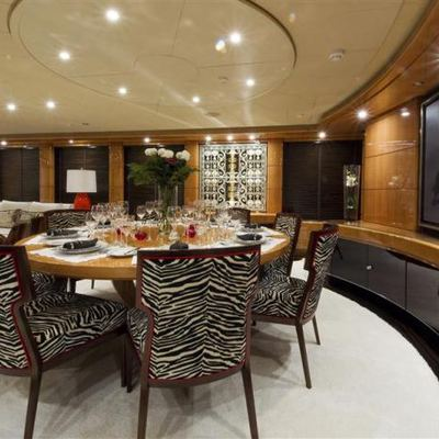 Lady MM Yacht Dining Salon