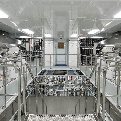 Solandge Yacht Engine Room