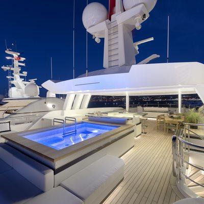Liquid Sky Yacht Sundeck Night