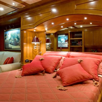 Insignia Yacht Red Stateroom
