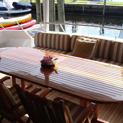 Le Montrachet Yacht Aft Deck