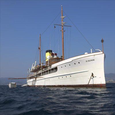 SS Delphine Yacht Achored