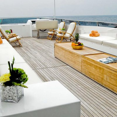 Mabrouk Yacht Aft Deck Seating