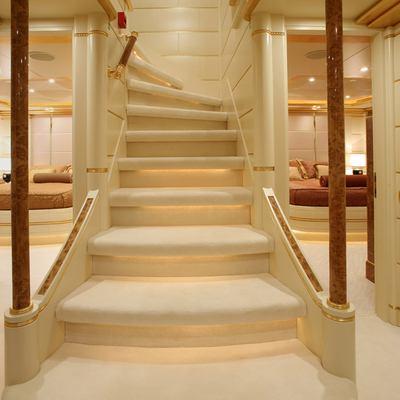Platinum Yacht Stairwell