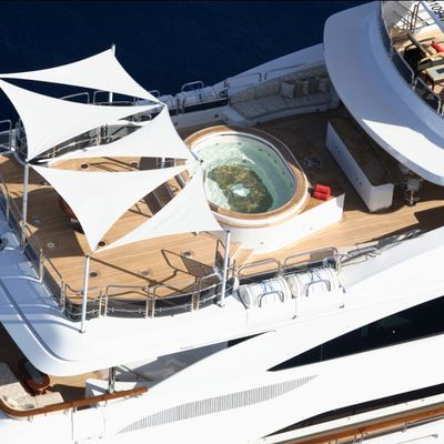 Diamonds Are Forever Yacht Sundeck - Aerial