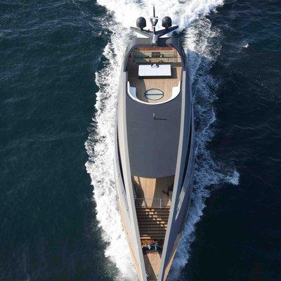 Ocean Pearl Yacht Running Shot - Overhead