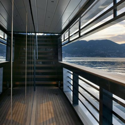 Ocean Emerald Yacht Side Deck