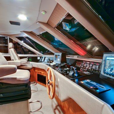 Andiamo Yacht Pilothouse