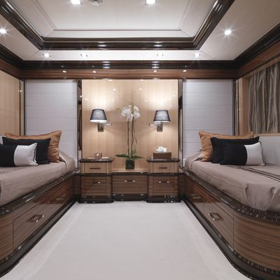 Meamina Yacht Twin Stateroom - Front View