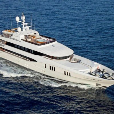 Carpe Diem Yacht Running Shot - Aerial View