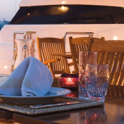 O'Ceanos Yacht Exterior Dining Area