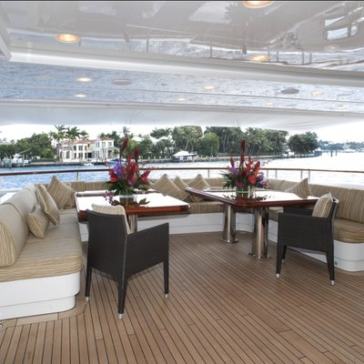 Diamonds Are Forever Yacht Aft Deck