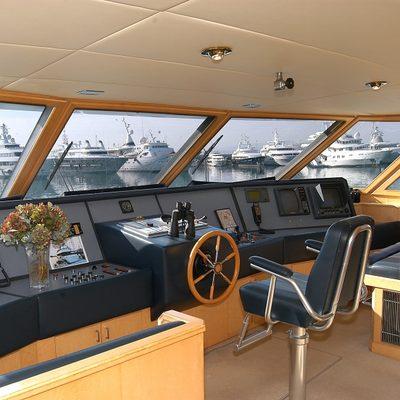 Bella Stella Yacht Pilothouse