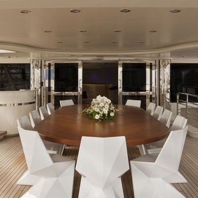 Light Holic Yacht Upper Aft Deck Dining